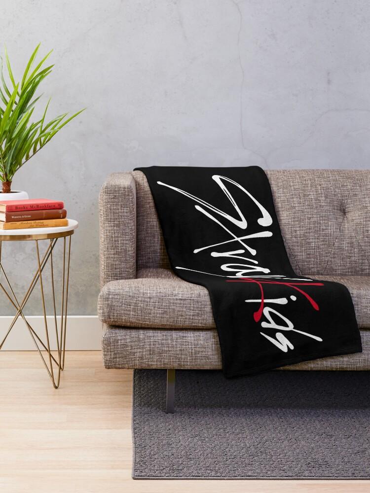 Alternate view of Stray Kids logo Throw Blanket