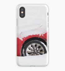 Car under snow  iPhone Case/Skin