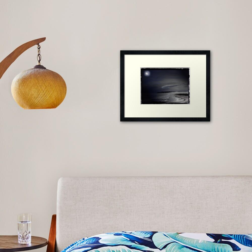 St Kilda Moon - Dunedin NZ Framed Art Print
