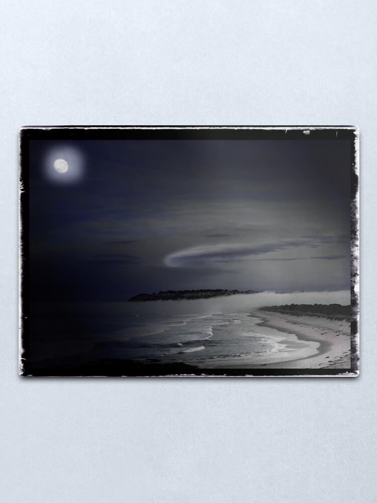 Alternate view of St Kilda Moon - Dunedin NZ Metal Print