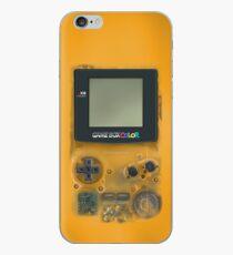 Classic transparent yellow mini video games iPhone Case