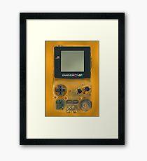 Classic transparent yellow mini video games Framed Print