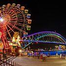 Luna Park during Vivid Sydney 2014 by Erik Schlogl