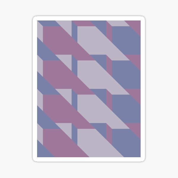 Lavender Way #redbubble #lavender #pattern Sticker
