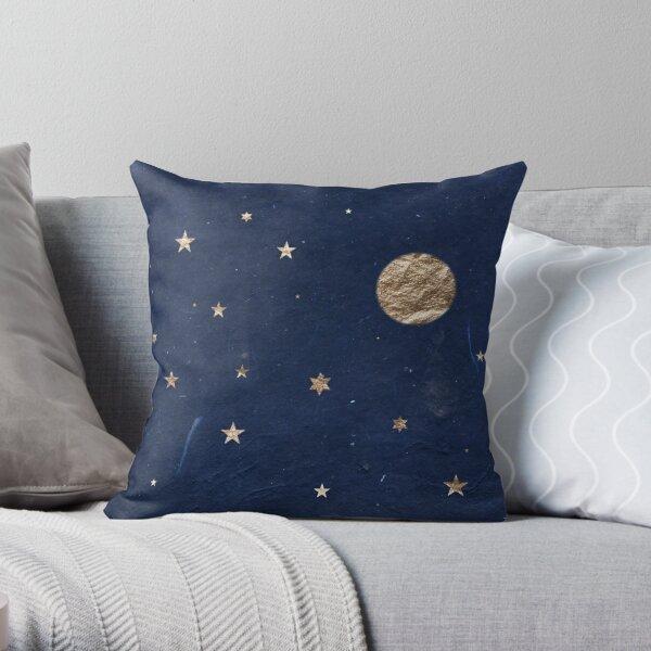 Gute Nacht - Mond und Sterne Dekokissen