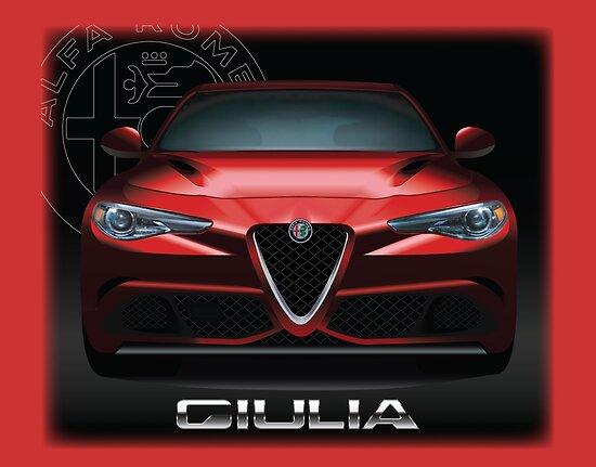 Alfa Romeo Giulia Quadrifoglio Posters By Fmd Redbubble - Alfa romeo poster