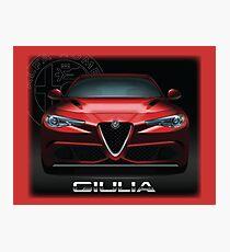 Alfa Romeo Giulia Quadrifoglio  Photographic Print