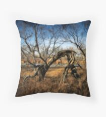 Old man in the woods Throw Pillow
