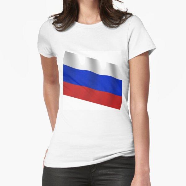 Российский флаг. Флаг российской федерации. Russian flag. Flag of the Russian Federation. Fitted T-Shirt