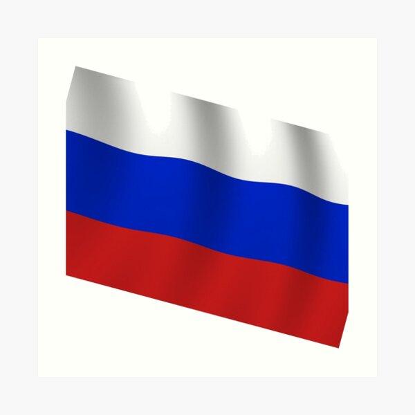 Российский флаг. Флаг российской федерации. Russian flag. Flag of the Russian Federation. Art Print