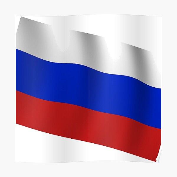 Российский флаг. Флаг российской федерации. Russian flag. Flag of the Russian Federation. Poster