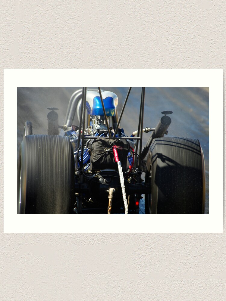 Alternate view of Burning Rubber Art Print