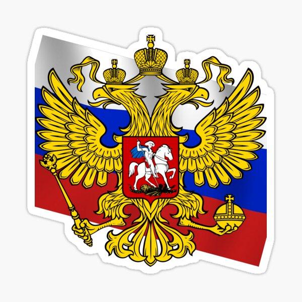Российский флаг, Флаг российской федерации, Russian flag, Flag of the Russian Federation, Russia, Russian, flag, Russian Federation Glossy Sticker