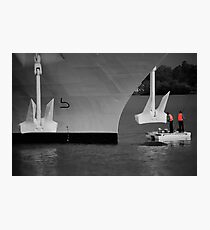 Two men and a dingy Photographic Print