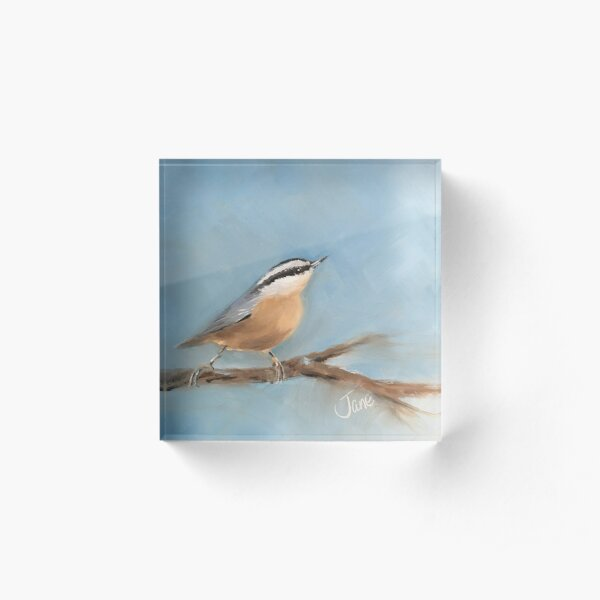 The Nuthatch Acrylic Block