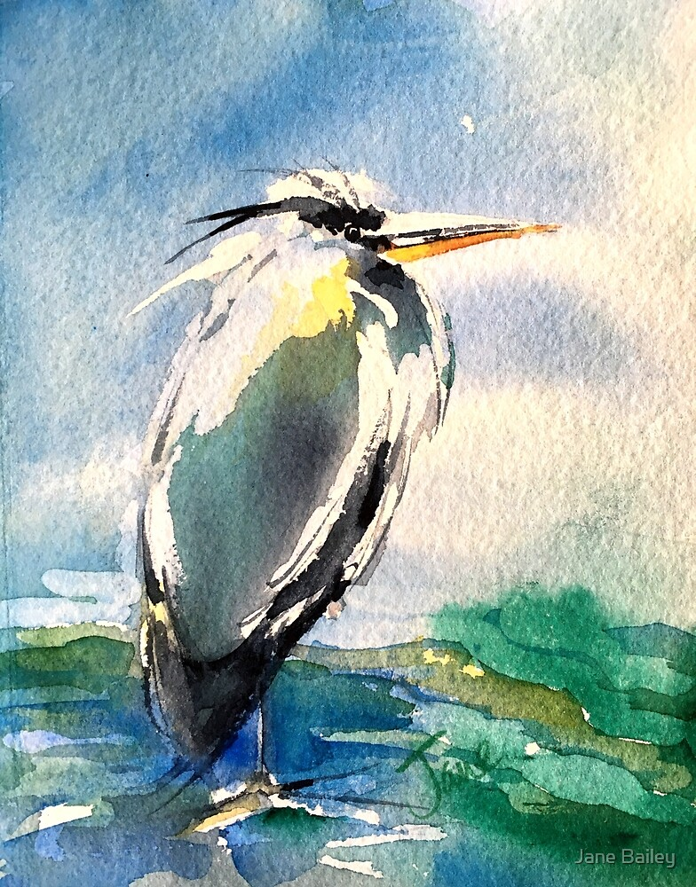 Great Blue by Jane Bailey