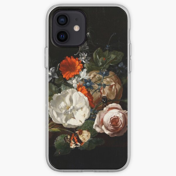 Still Life of Flowers on a Table Ledge by Rachel Ruysch, 1700 iPhone Soft Case