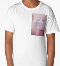 Serenity Prayer Abstract Landscape Pink Long T-Shirt