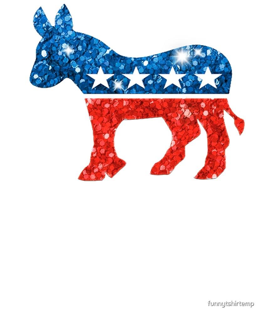 """Democratic Donkey Democrat Glitter Look Liberal Left Wing ..."