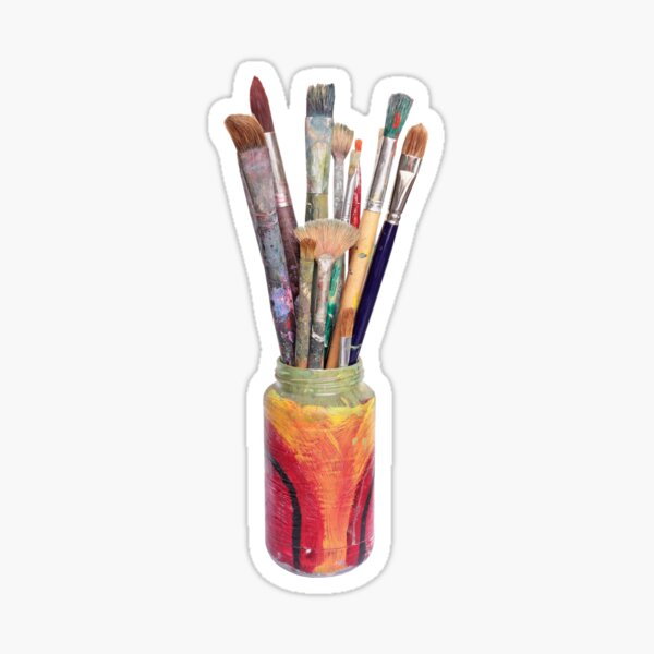 Artists Painting Brushes Sticker