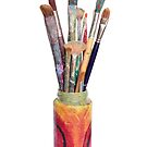 Artists Painting Brushes by Maria Meester