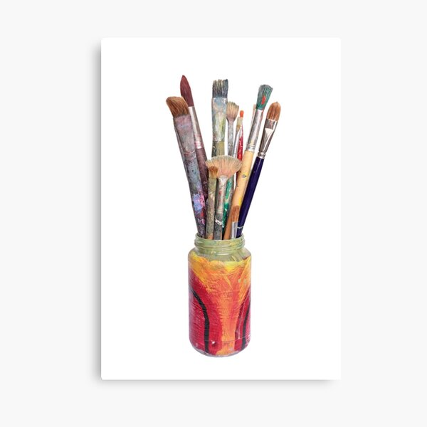 Artists Painting Brushes Canvas Print