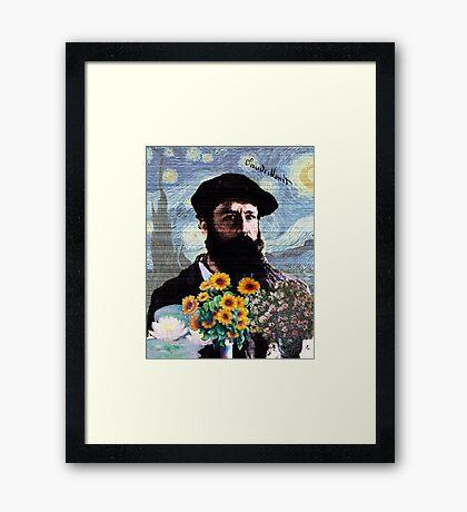 Claude Monet Mashed Framed Print