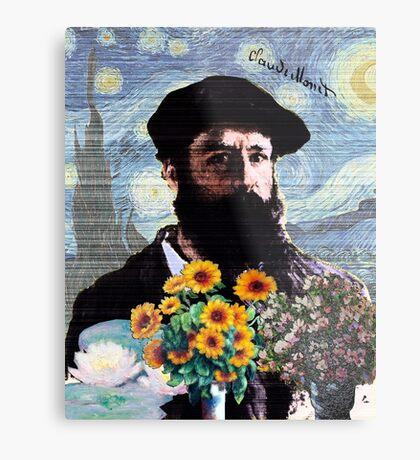 Claude Monet Mashed Metal Print