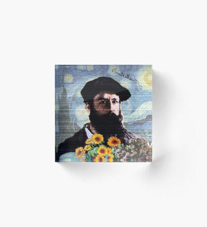 Claude Monet Mashed Acrylic Block