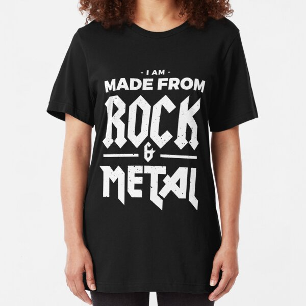 Made from Rock & Metal T-Shirt Slim Fit T-Shirt