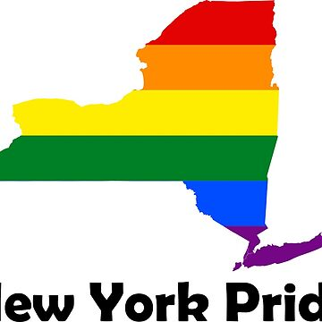 New York State Gay Pride Flag Map by MADdesign