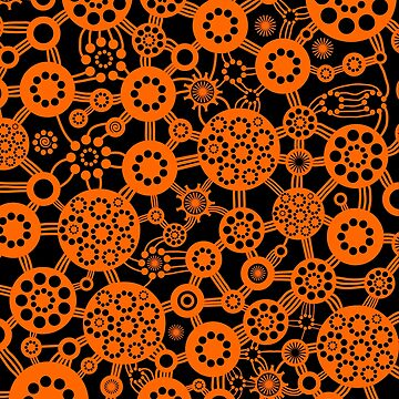 Ecosystem - Orange and Black by Artberry