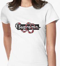 Snake Logo Women's Fitted T-Shirt