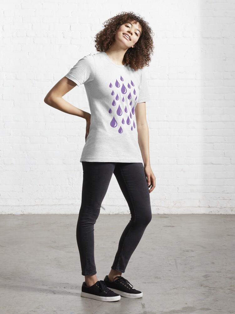 Alternate view of Purple Rain Drops V.2 Essential T-Shirt