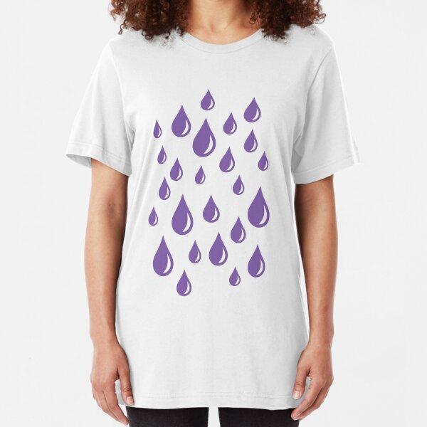 Purple Rain Drops V.2 Slim Fit T-Shirt