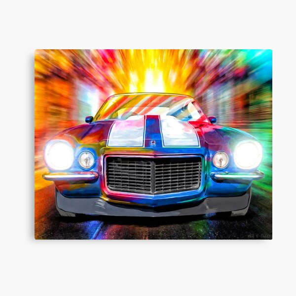 Classic Camaro - 1972 Chevy Camaro Artwork Canvas Print