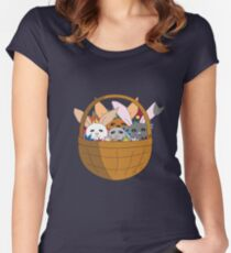Bunny basket Women's Fitted Scoop T-Shirt