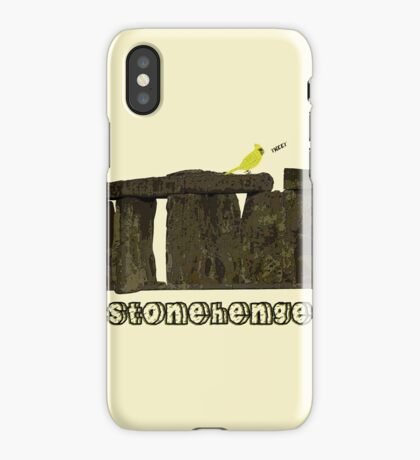 Stonehenge Bird iPhone Case