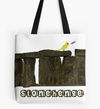 Stonehenge Bird Tote Bag