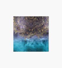 Gold floral mandala and confetti image Art Board