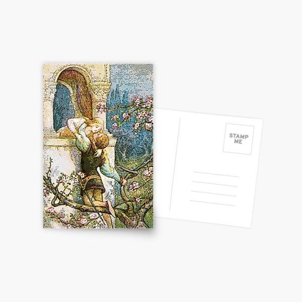 ROMEO AND JULIET VINTAGE Postcard