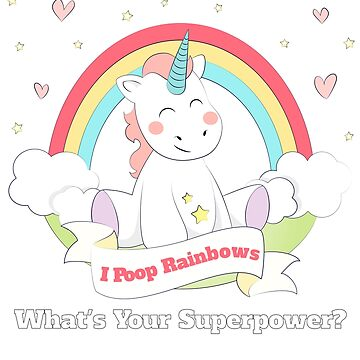 Funny Unicorn - I Poop Rainbows by lbhw