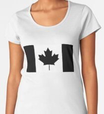 CANADA, CANADIAN, Canadian Flag, National Flag of Canada, Funeral, Mourning, A Mari Usque Ad Mare, Pure & Simple, in BLACK Women's Premium T-Shirt