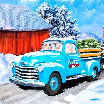 Vintage Chevy Truck - 1950's Americana - Winter Snow by marksda1