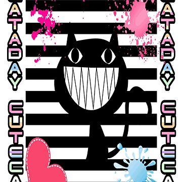 FUNNY CAT BLACK by PETSDESIGN