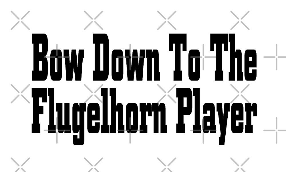 Bow Down To Flugelhorn Player - Funny Flugelhorn T Shirt  by greatshirts