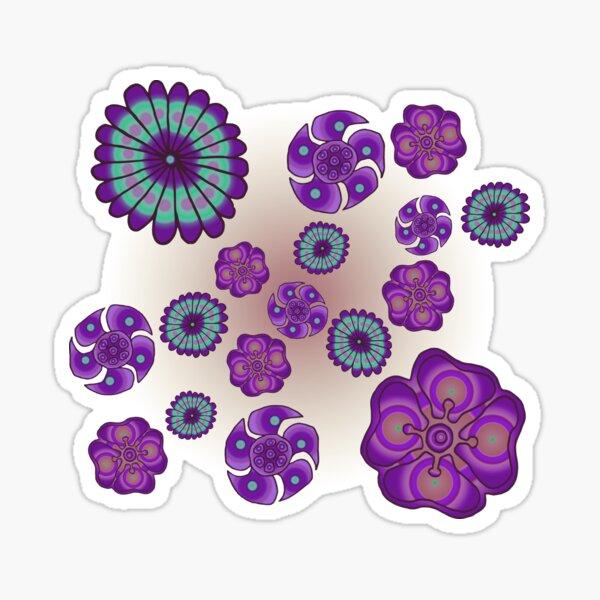 Purple flowers Sticker