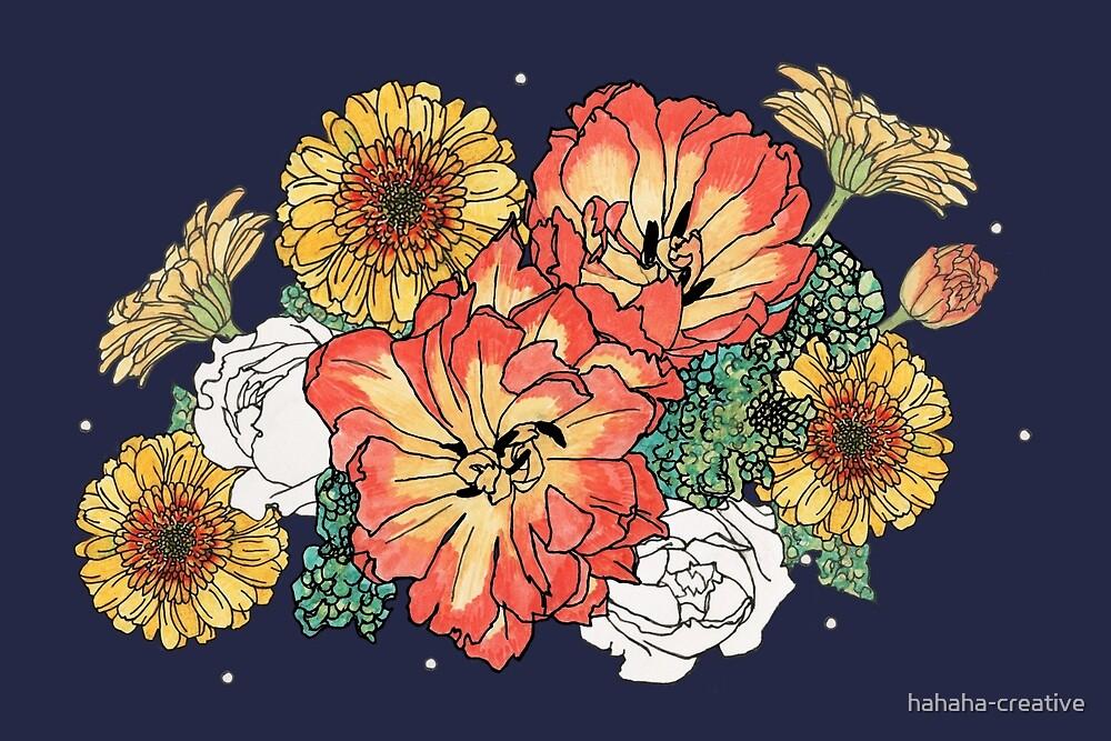 flower bouquet by hahaha-creative