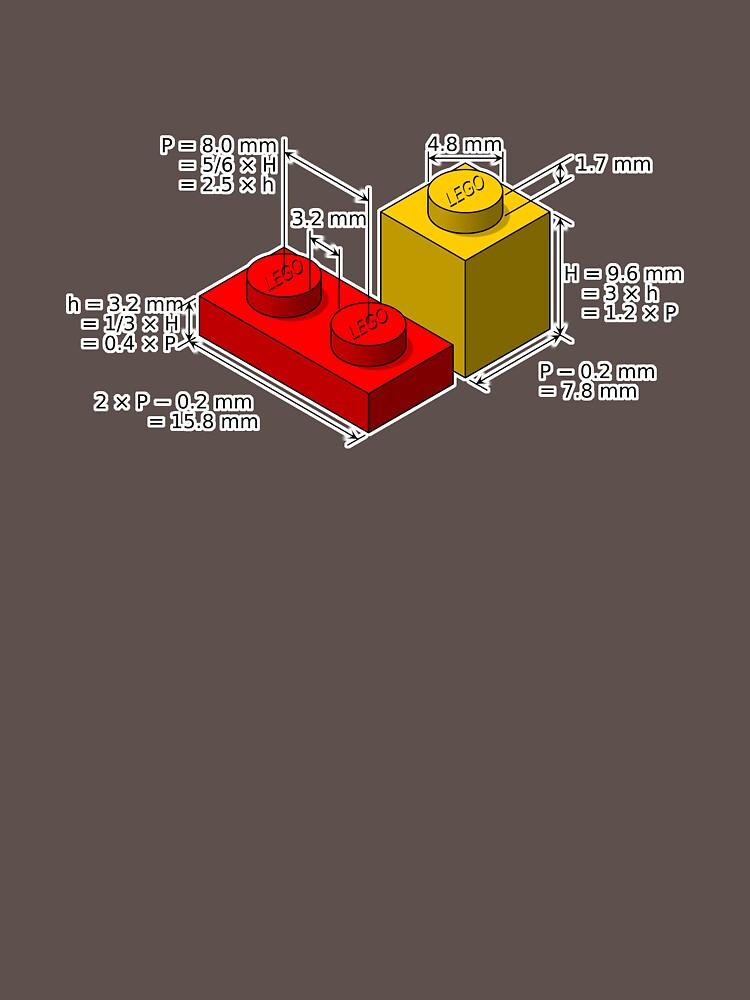 LEGO Dimensionen von Uxas