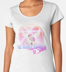Cyborg -Night begins to Shine Women's Premium T-Shirt